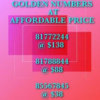Great Numbers @ Great Price!!