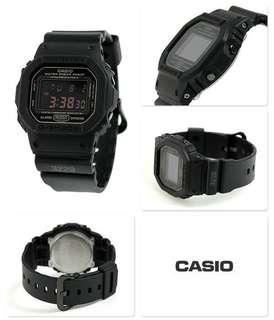 Jam Tangan Pria Casio G-Shock DW 6900 1VDR Rubber Black Original