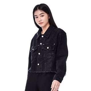 🚚 TEM Cardi Denim Jacket in Black