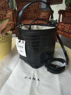 ZARA animal printed round bag/tas wanita (authentic)