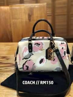 Original Coach Floral Handbag