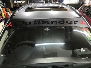 Outlander sunshade sticker