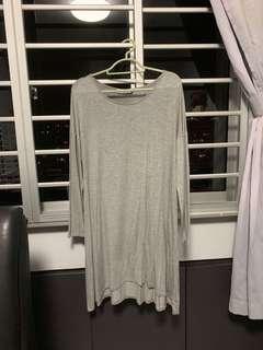 🚚 LB Basics grey swing midi dress