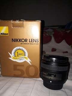 Nikon Lensa fix 50mm f/1.8g