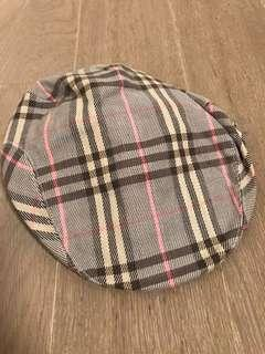 Burberry Blue Label pattern flat cap (brown, light grey and pink)