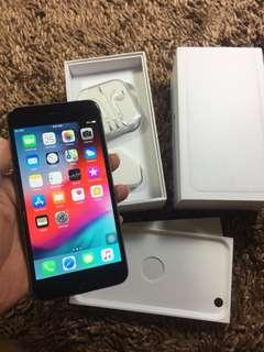 Iphone 6 plus 64gb Grey Fullset minus Fingerprint aja