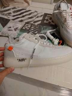 🚚 全新Nike鞋 airforce air force off white offwhite代購