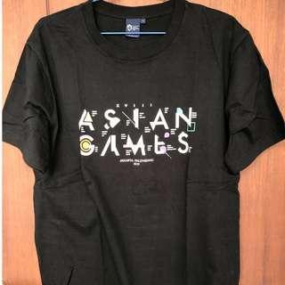 Kaos hitam official ASIAN GAMES 2018 Uk L