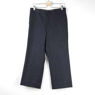 🚚 【GGM】日本古著店帶回 VINTAGE WIDE SUIT PANTS 高級羊毛寬版寬口打摺直筒西裝褲