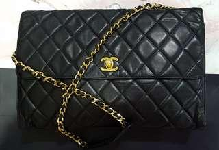 This weekend! Chanel Satchel jumbo black with gorgeous gold hardware!