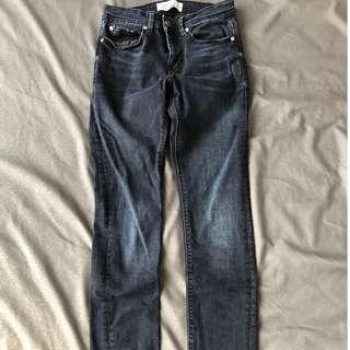 Jeans Biru Laut tua Skinny fit Pull and Bear uk 29