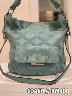 Original Coach Coral Blue Handbag