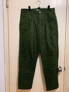 Dickies 軍綠色闊腳長褲