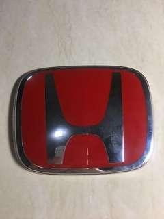 Logo Honda Red (2pcs) Depan - Belakang