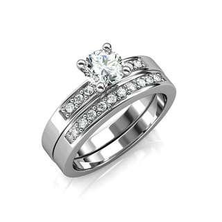 Sterling Silver Ring diamond swarovski