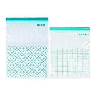 NEW IKEA Set of 30 Plastic Ziplock Bags (Australia)