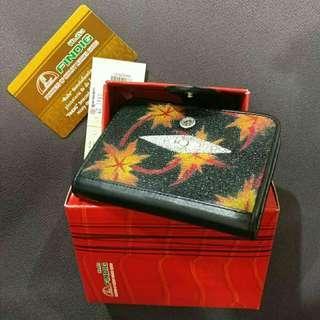 Genuine stingray leather card case wallet ,  Findig brand (Thailand)  card case