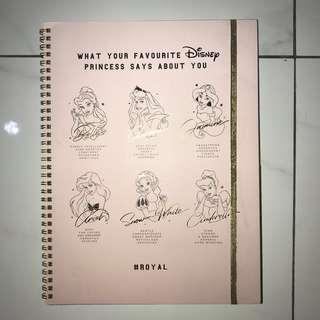 Typo A4 Notebook Disney Princess Pink Royal