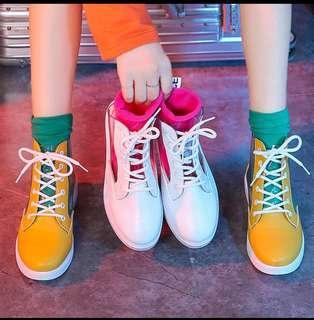 🚚 🐍ins風果凍透明高筒鞋鞋+糖果襪