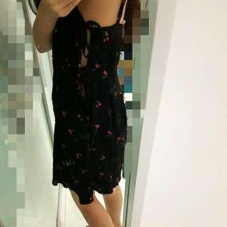 NEW Cherry Side Tie Dress
