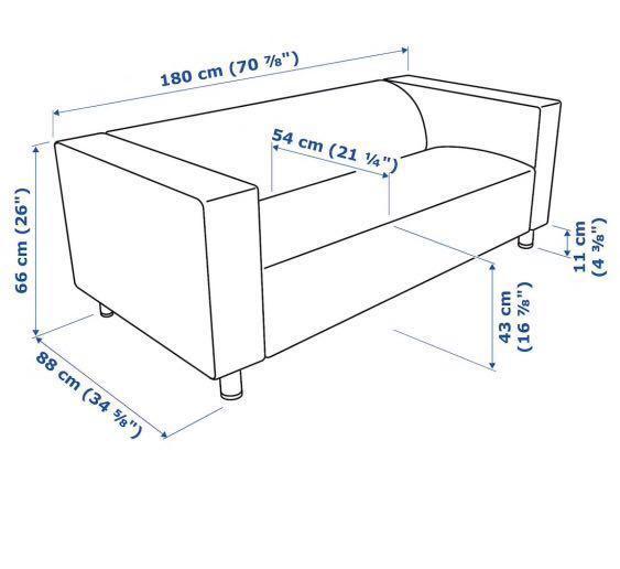 2-seat sofa, Kabusa dark grey