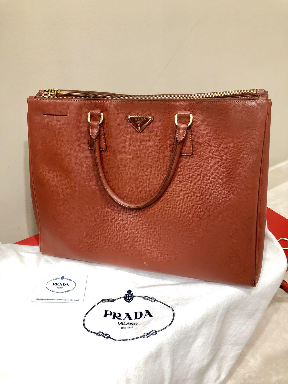 6171f03793b7 💯 Authentic Prada Saffiano Large Bag (price negotiable), Luxury ...