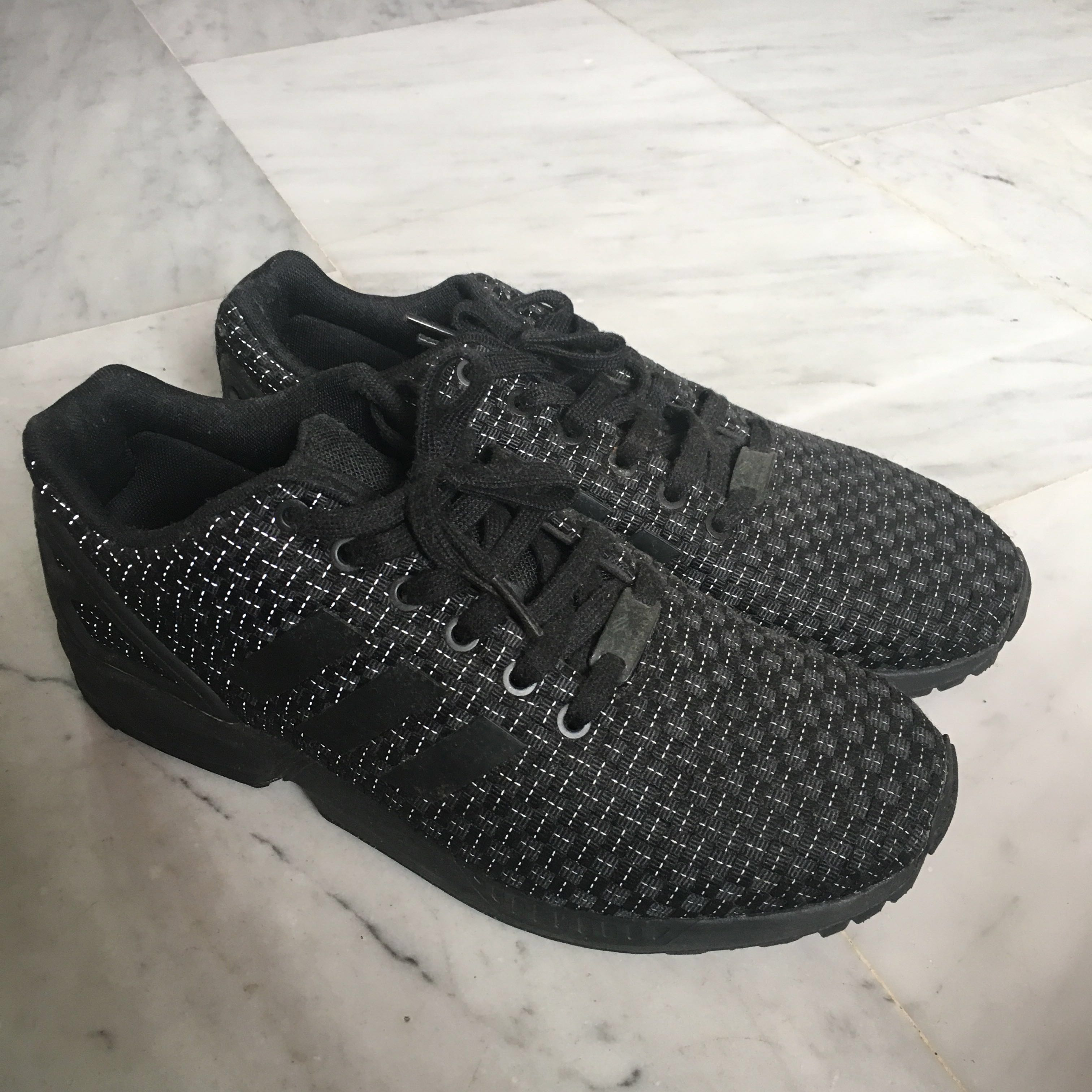 best website ea4da fe299 Adidas Zx flux Reflective Black