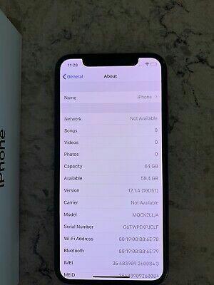 Apple iPhone X - 64GB - Space Gray (Verizon) A1865 (CDMA + GSM).