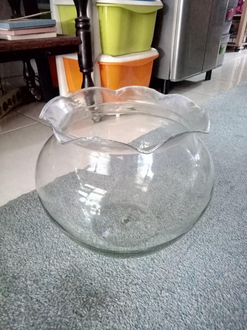 Aquarium Bulat Gelombang Home Furniture On Carousell