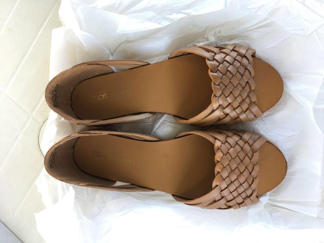 19ecdbd0877 Asos Woven Leather Sandals