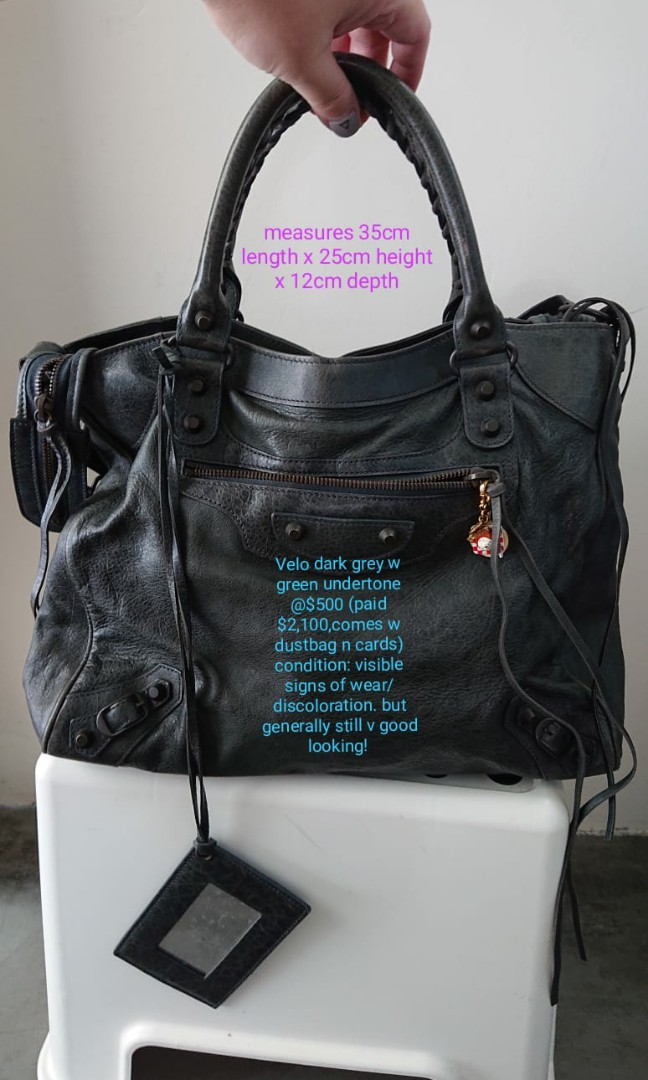 4c9e056391 Balenciaga RH Velo Anthracite, Luxury, Bags & Wallets, Handbags on ...