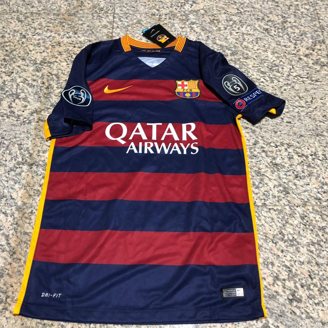 purchase cheap 86dc4 c946e Barcelona FC Champions League Jersey, Sports, Sports Apparel ...