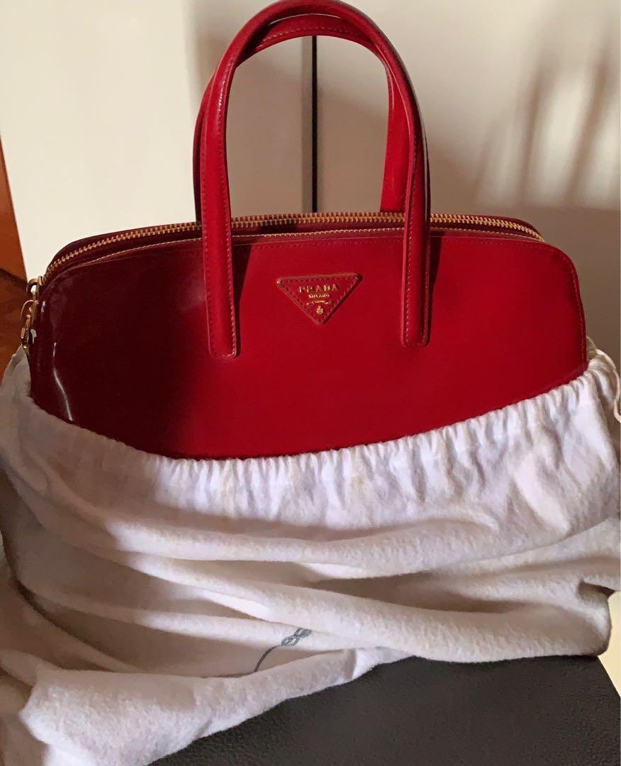 25d9af1a871b BN Prada Bag - lipstick red. :), Luxury, Bags & Wallets, Handbags on ...