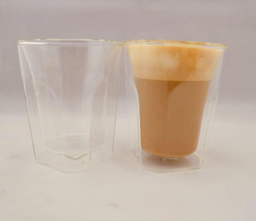 BNIB Set of Two Double Walled Latte Glasses