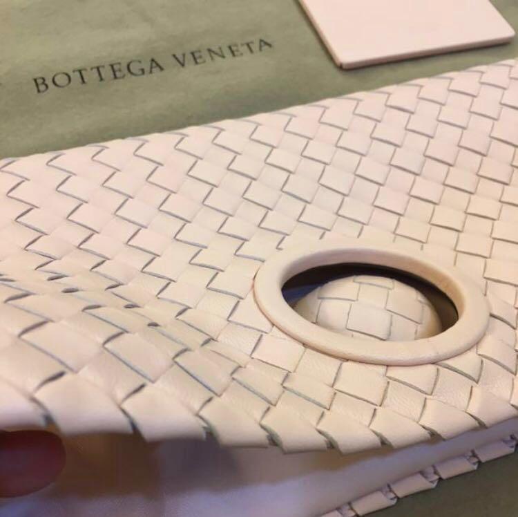 Bottega Veneta turnlock clutch