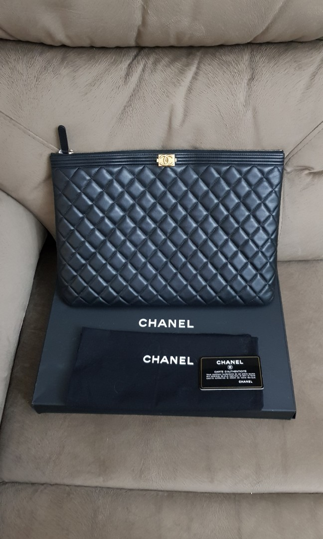 af052f9935f0 Chanel Boy Large Clutch Pouch