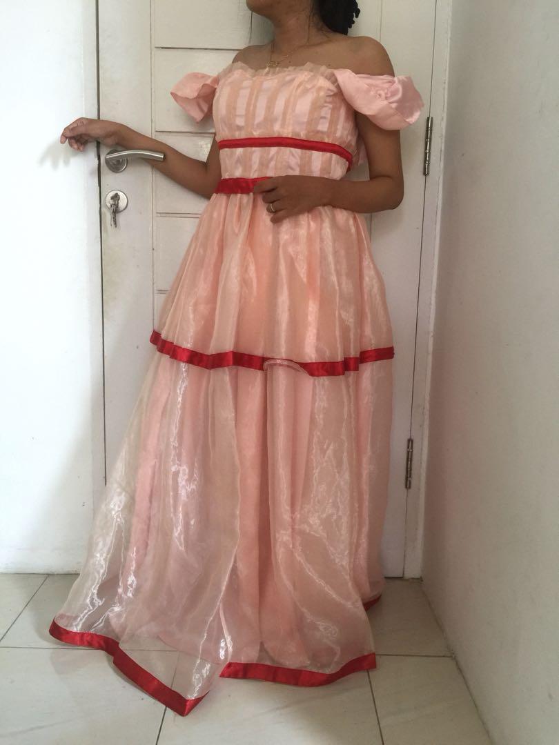 Dress pink promnight