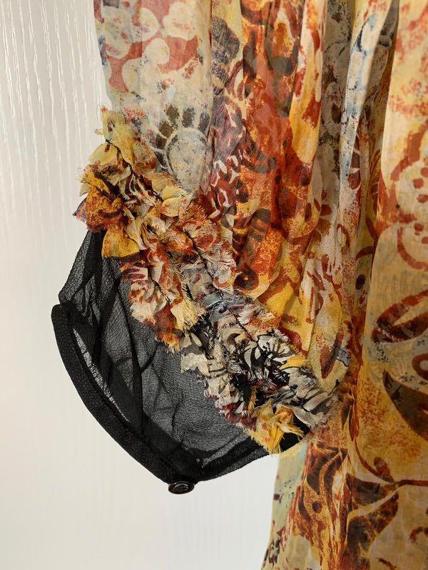 DVF silk long dress