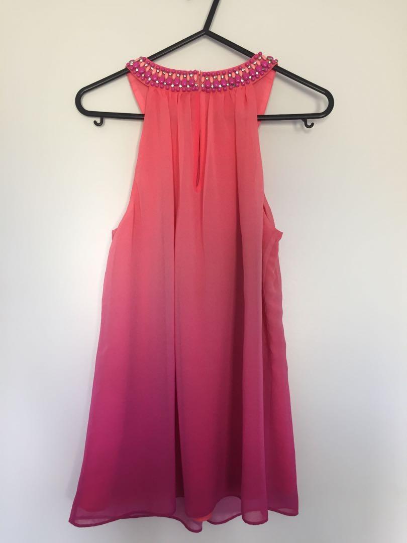 Forever new top - pink & orange ombré