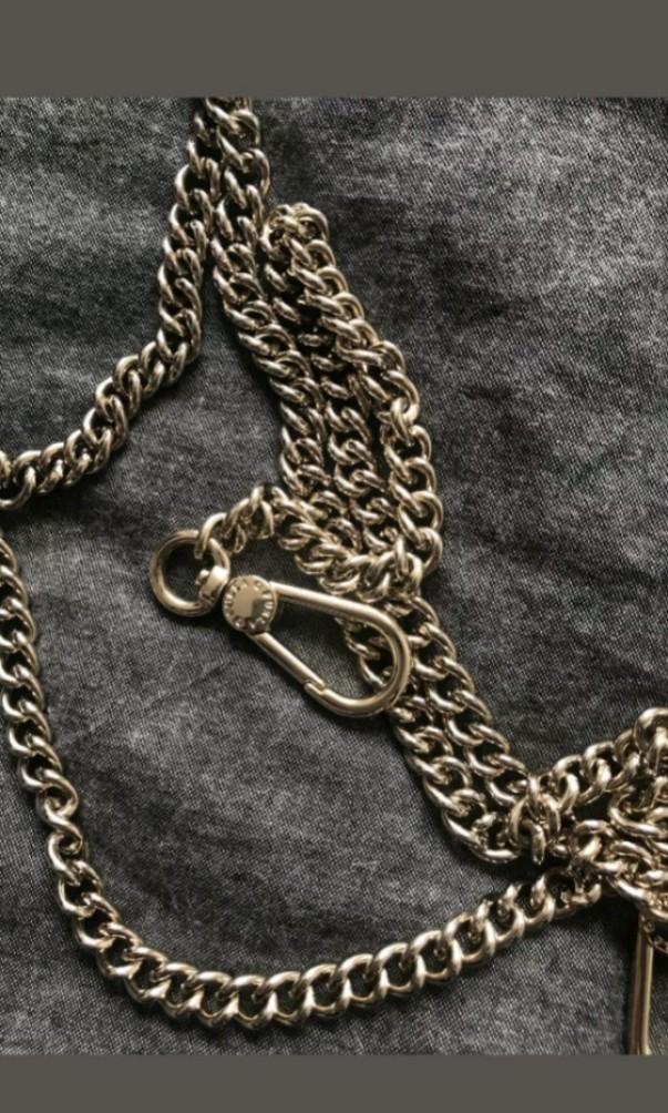 Furla grey metropolis top handle crossbody chain bag