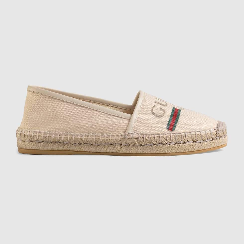 GUCCI logo canvas espadrille - BRAND NEW SIZE 36 RRP $675