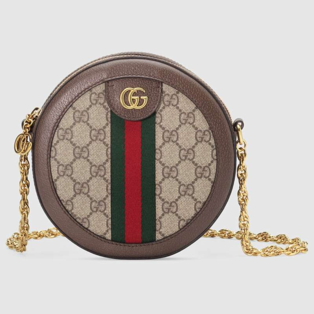 12d7ff3554e5 Gucci Ophidia mini round shoulder bag, Women's Fashion, Bags ...
