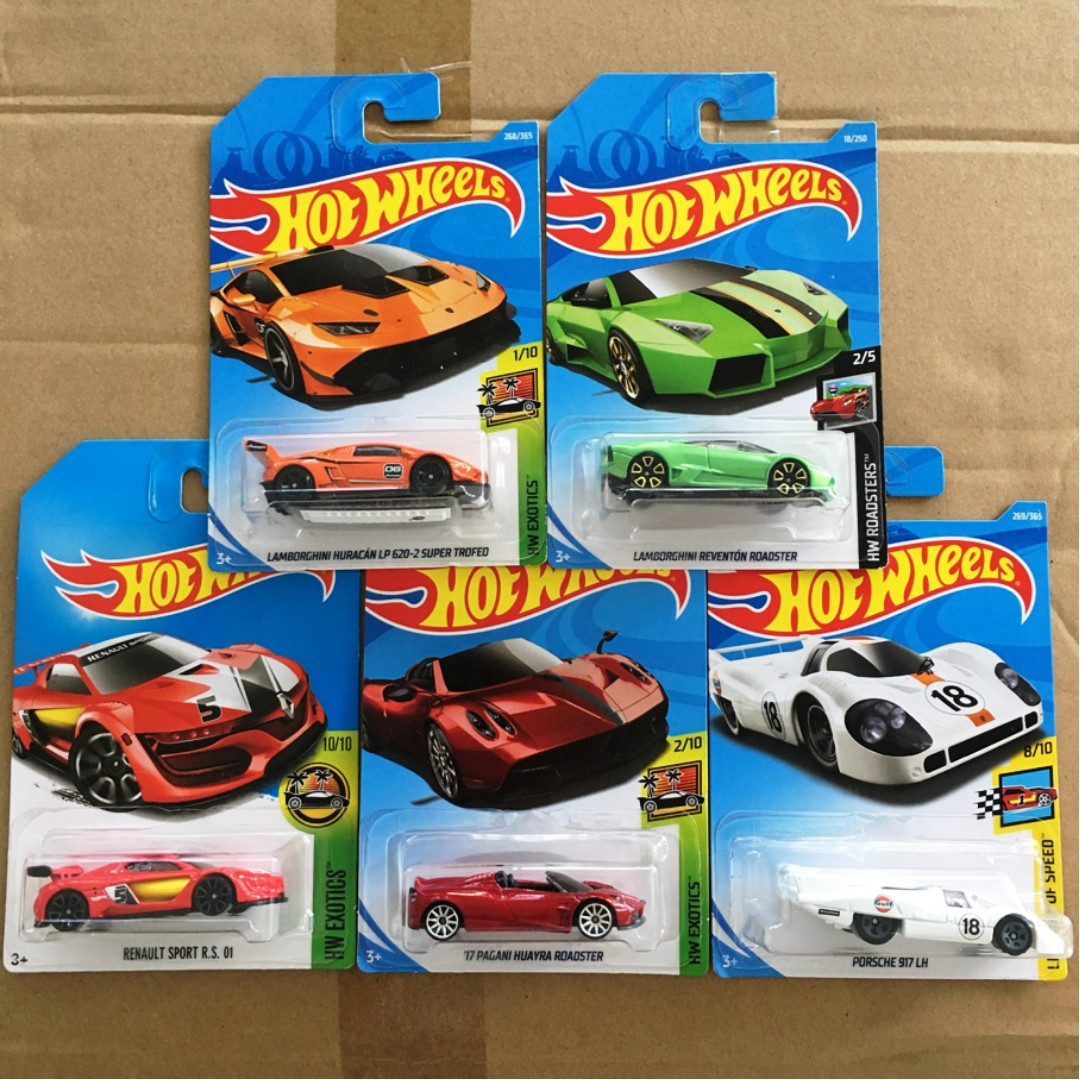 Hot Wheels Mainline Exotics Assorted 5 Cars