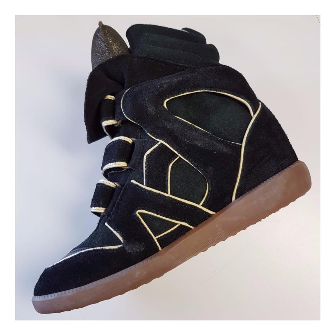 Isabel Marant Etoile Bekett Leather and Suede Sneakers (Size 37)