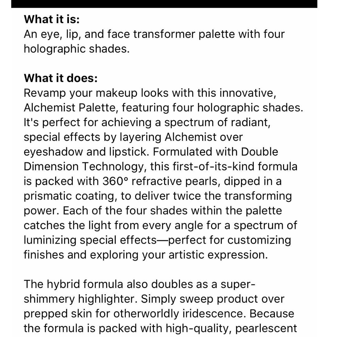 KAT VON D Alchemist Holographic Palette/Highlighter