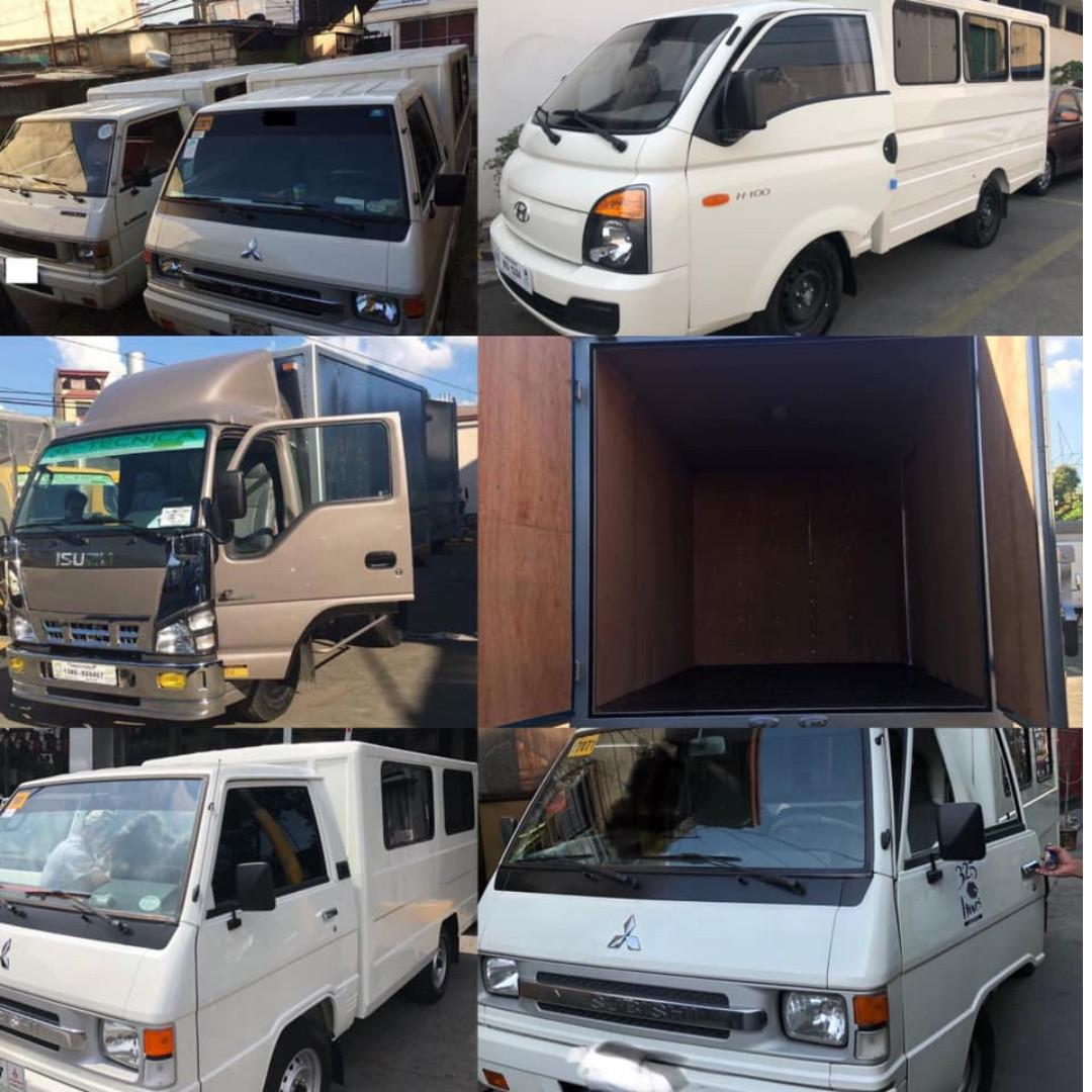 L300 FB van / H100 / 4w Truck closed van for Rent delivery, lipatbahay, events