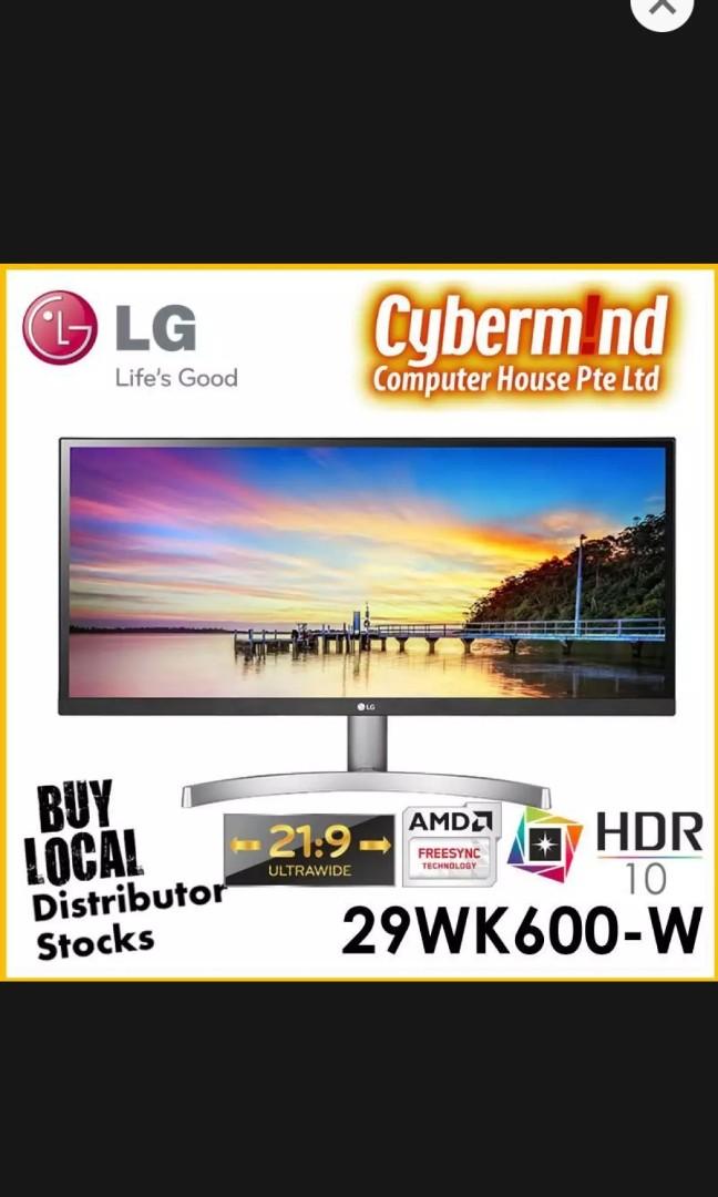 LG 29 inch ultrawide gaming monitor
