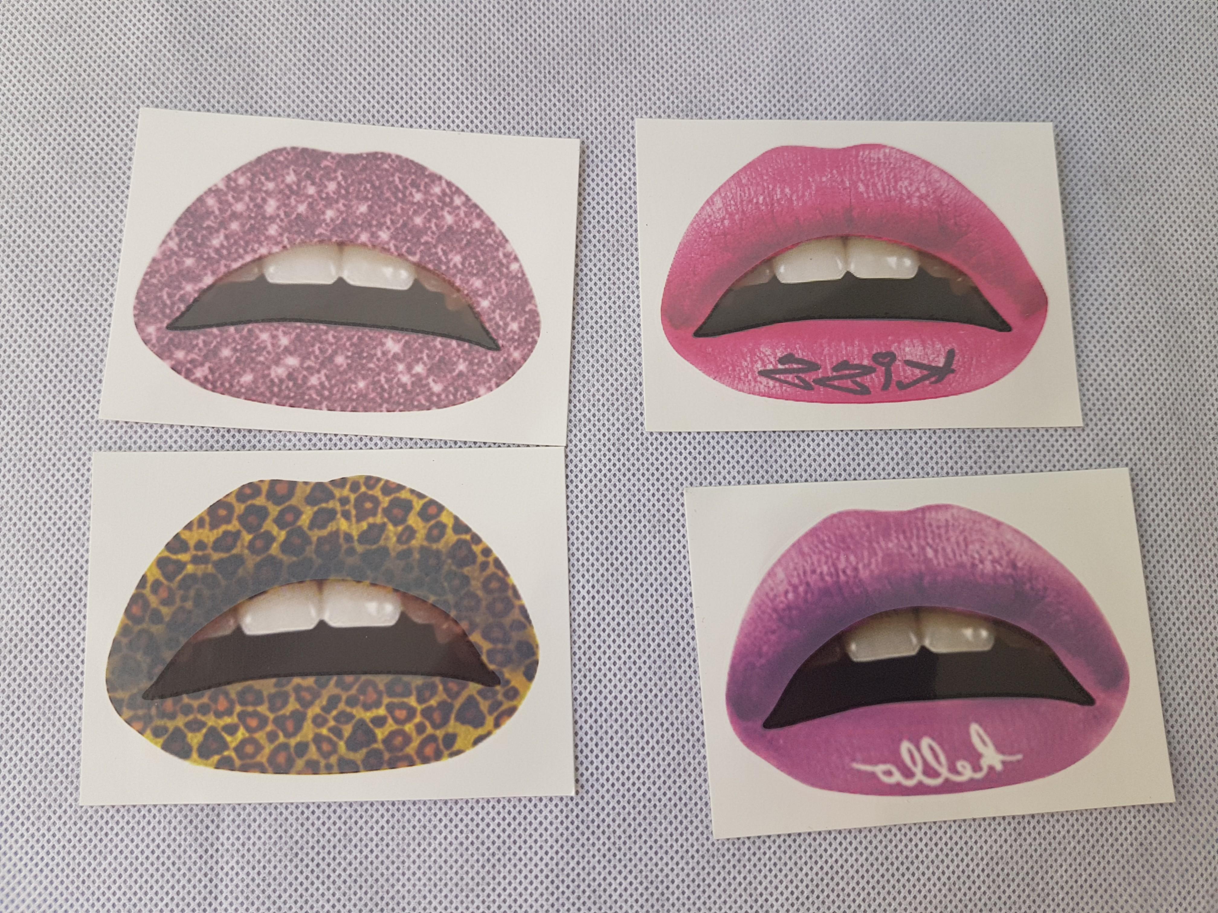 Lips sticker temporary lip tattoo lipstick lip stain