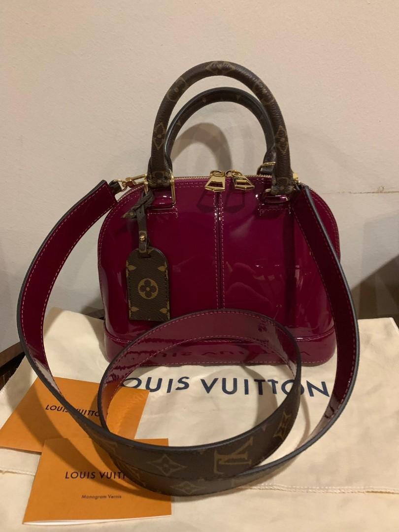 cf3e00e15 Louis Vuitton Alma BB Vernis Magenta, Luxury, Bags & Wallets ...