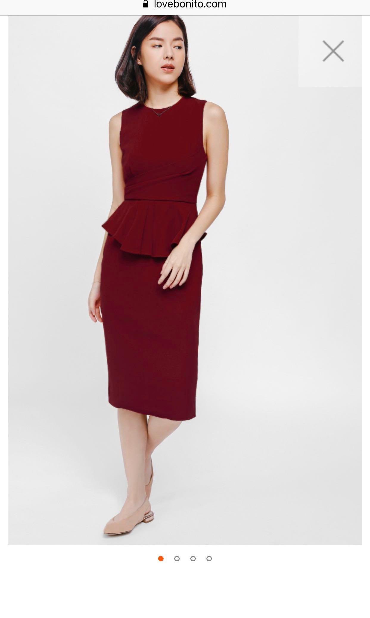 3aa41b8c705a Love bonito Yione peplum midi dress, Women's Fashion, Clothes ...